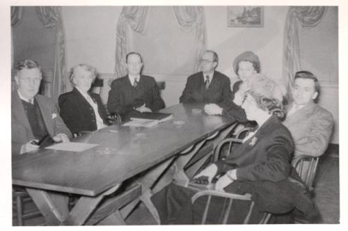 1945 Library Board Dan Cannady Charles Roseberry John Goldsmith Bill Baldwin Jeanette Harmon Board