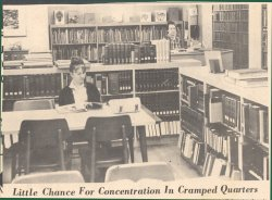 Small Chance for Concentration in Crampe Library Newspaper Clipping