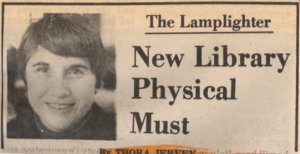 Thora Jervey and the Lamplighter New Library Physical Must Newspaper Headline
