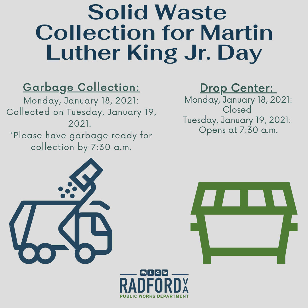 Solid Waste Collection for Martin Luther King Jr. Day